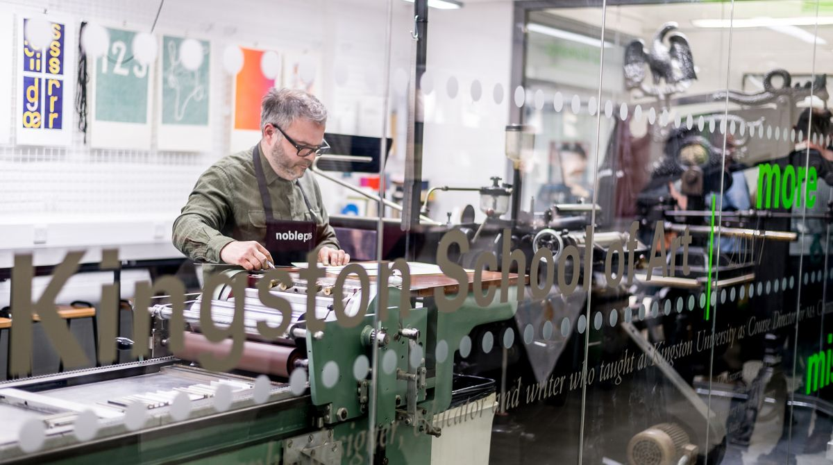 New letterpress facility at Kingston University, named in honour of former academic Ian Noble, reflects growth of hands-on learning in the digital age