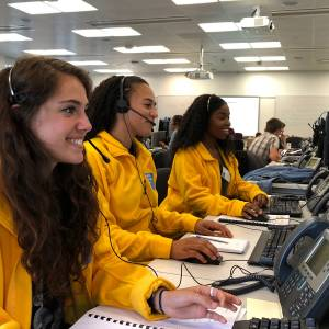 Clearing hotline phones buzzing as A-level results students jostle for a course place at Kingston University