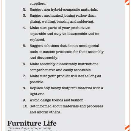 MANUFESTO for repairability - a guide for furniture designers, by Chrysostomos Tommy Papaioannou