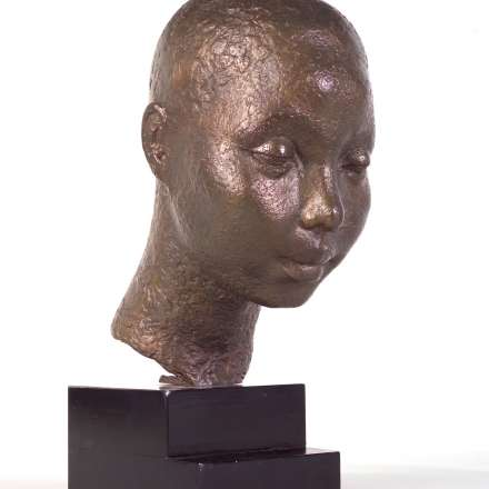African head in bronze, Dora Gordine