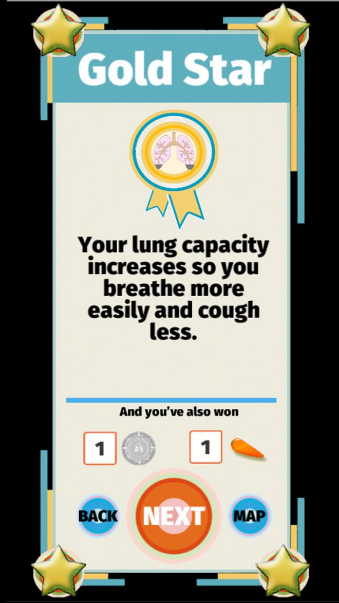 Rewards in the game include embedded health messages to help smokers quit.