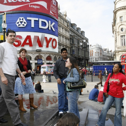 Gathering at Piccadilly Circus