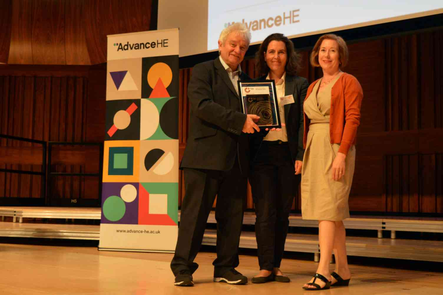 Collecting the Athena SWAN award with Sir Paul Nurse - The Athena SWAN Bronze award for LSPC