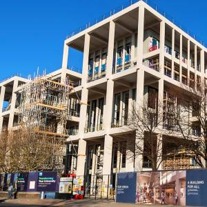 University and local community take last look at Town House construction ahead of its opening next year