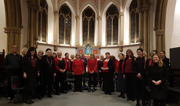 The Kingston Singers at a carol service