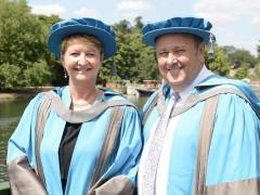 Founders of data science firm behind Tesco Clubcard Edwina Dunn and Clive Humby awarded honorary degrees by Kingston University