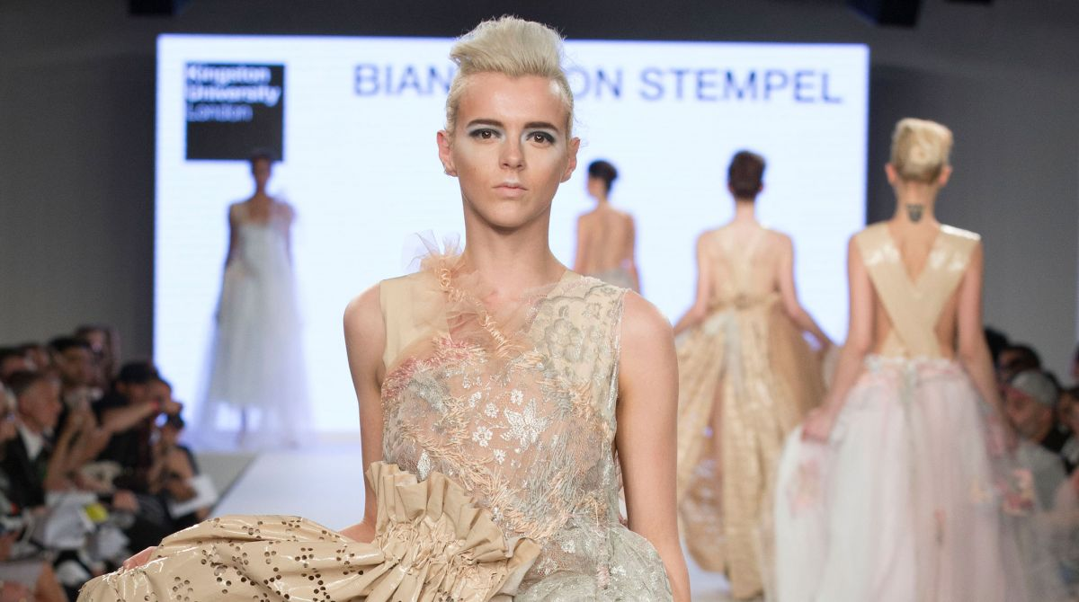 Visually impaired Kingston University fashion student Bianca Von Stempel makes waves with braille-inspired Graduate Fashion Week collection