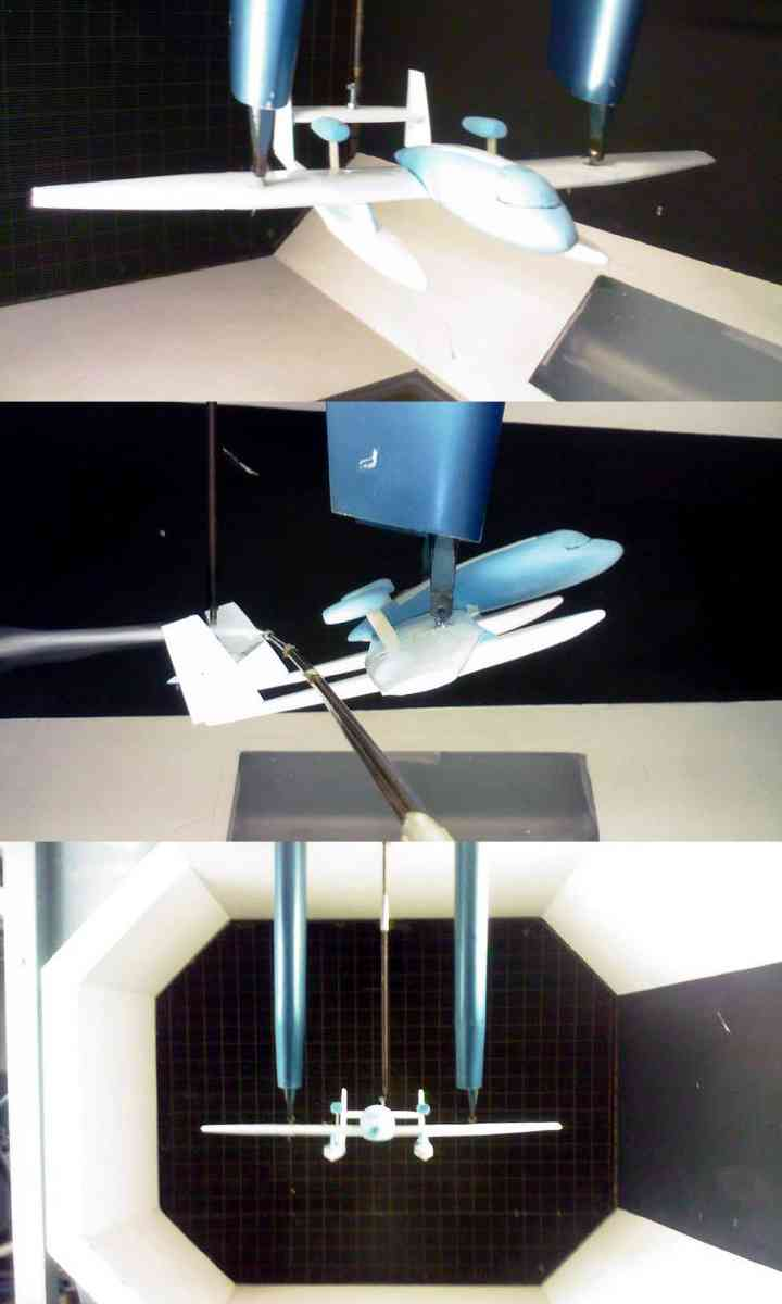 Wind tunnel testing - 1:50 Scale model of the design for wind tunnel testing aerodynamics