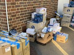 Kingston University donates supplies of personal protective equipment (PPE) for use by front-line NHS teams across borough during coronavirus outbreak