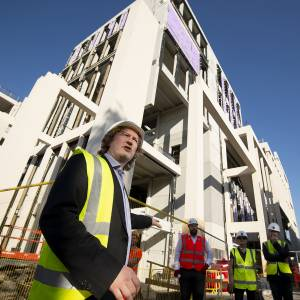 Kingston University celebrates construction milestone of its flagship Town House building