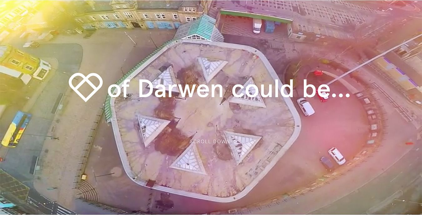 The Heart of Darwen branded website provides a platform for community members to have their say.