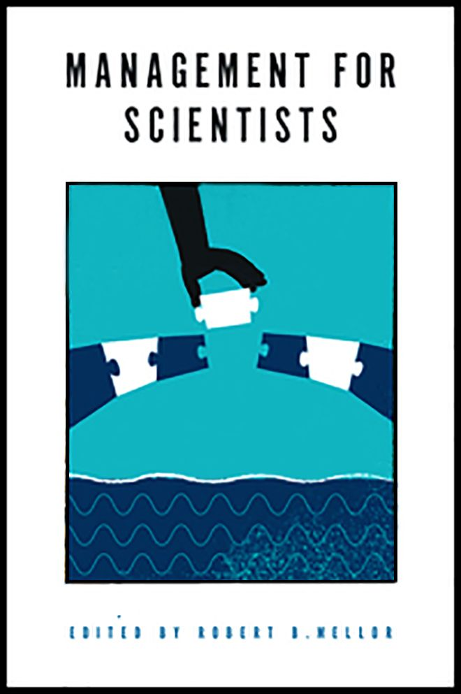 A picture of teh frsont cover of Management for Scientists textbook