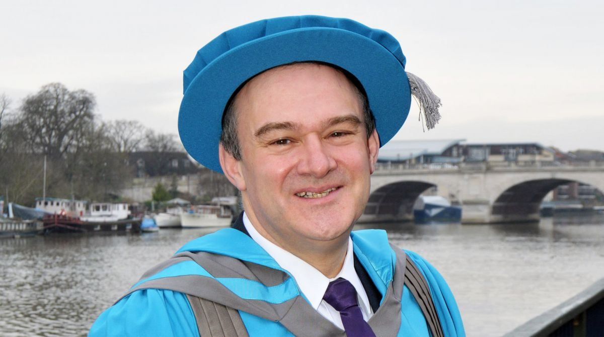 Former Secretary of State for Energy and Climate Change Sir Ed Davey named Honorary Doctor of Science by Kingston University