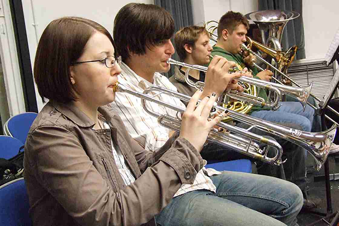Kingston University brass ensemble