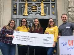 Students deliver creative ideas to boost borough's economy in Kingston Business Society and Kingston Chamber of Commerce hackathon