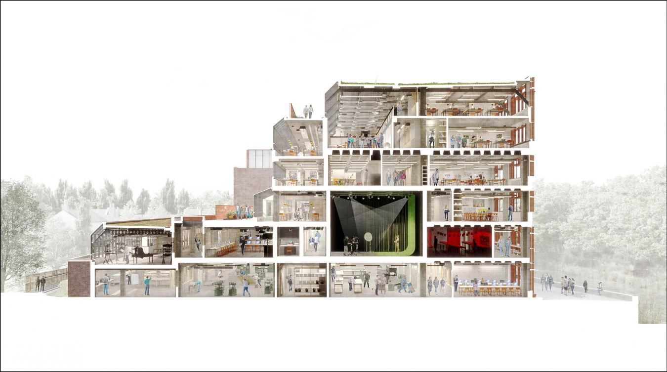 A perspective cross section of how Kingston School of Art will look once the refurbishment has been completed