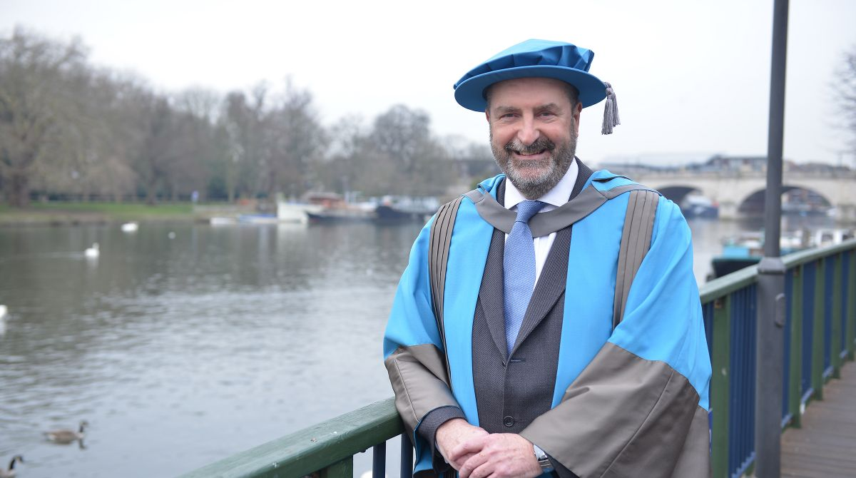 Former Kingston Council chief executive Bruce McDonald, who brought Rose Theatre and Olympic cycling to borough, receives honorary degree