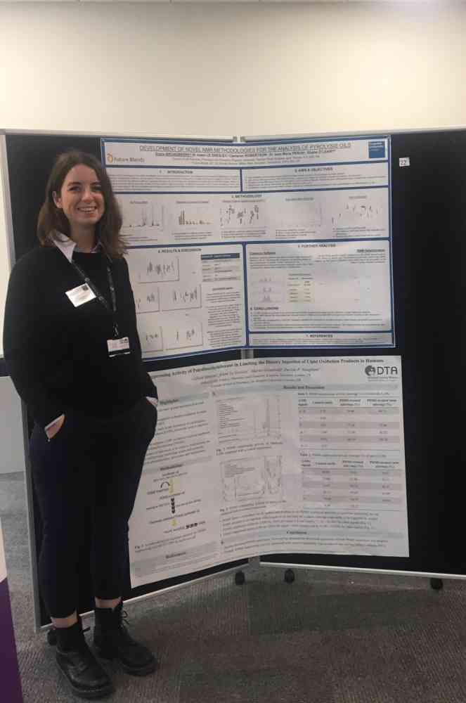 Grace Broadberry presenting her NMR work - Drug discovery and synthesis symposium, Kingston University. 2019