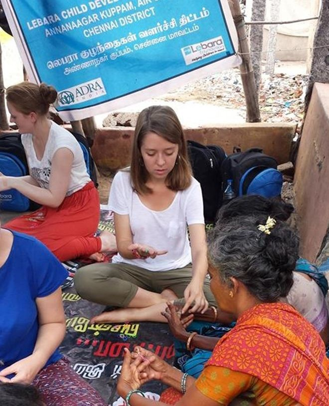 MA English Literature student Jessica Farrugia worked with people displaced by the 2004 tsunami during the Lebara Foundation-sponsored visit to India.