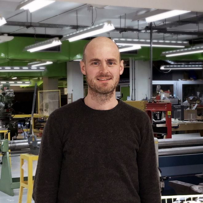 Keiron O\'Connor, the design school\'s director of enterprise, was part of the curation team for Manufactory