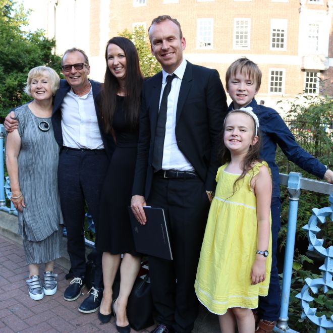 Haig\'s parents, wife and children came to Kingston to watch him take the stage of his first ever graduation ceremony.