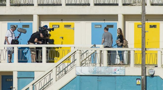 Lorna Wheele on location at Broadstairs in Kent where she was featured on the Sky Arts show