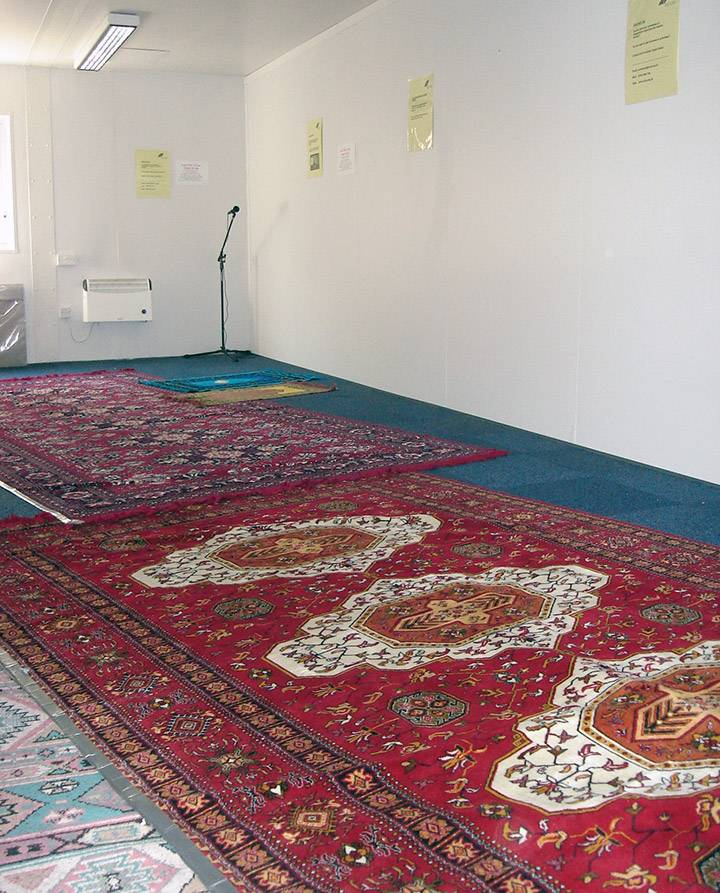 Prayer rugs in the Quiet Room