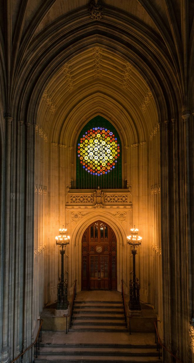 New Dawn, situated above the entrance to St Stephen\'s Hall in the Houses of Parliament. Photo: Emma Brown