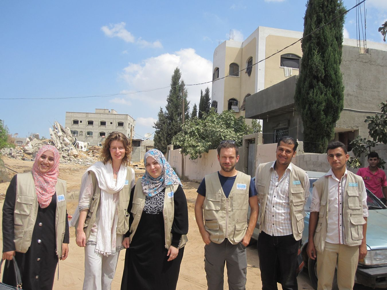 Mary Jane Cole shared her specialist expertise with a number of rehabilitation teams based in Gaza.