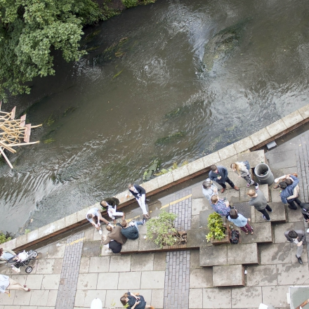 Arial shot of Hogsmill River