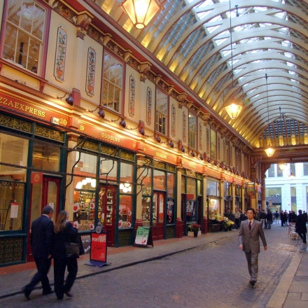 Historic shopping arcadein the heart of London