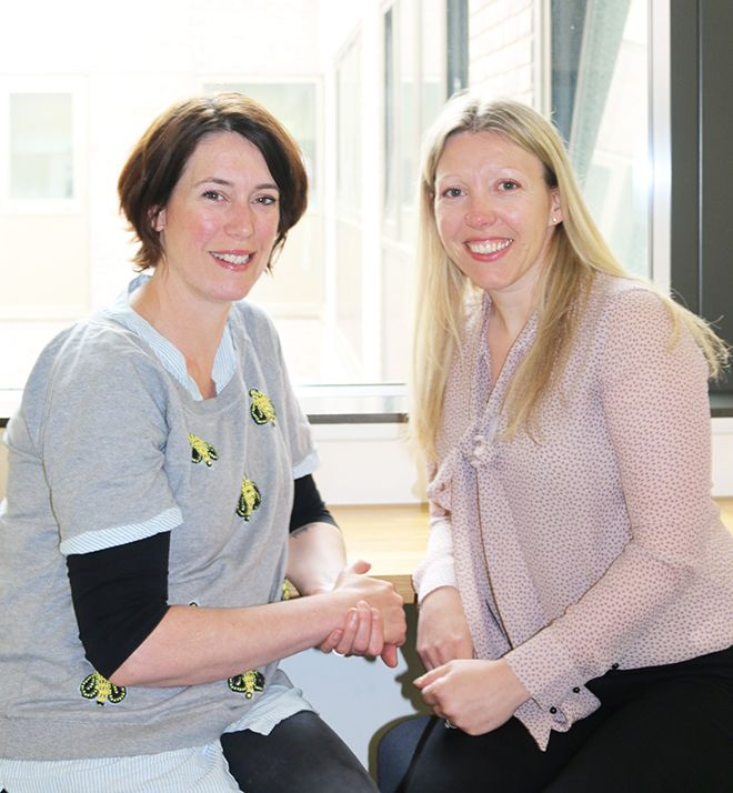 A photo of Dr Rachel Lewis and Dr Joanna Yarker who co-direct the masters coDr Rachel Lewis and Dr Joanna Yarker who co-direct the MSc in Occupational and Business Psychology at Kingston Universityurse