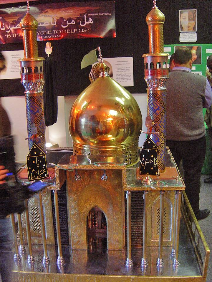 Temple model at an event