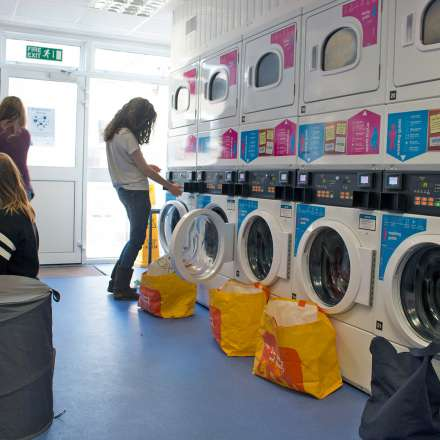Laundry area at Clayhill Halls