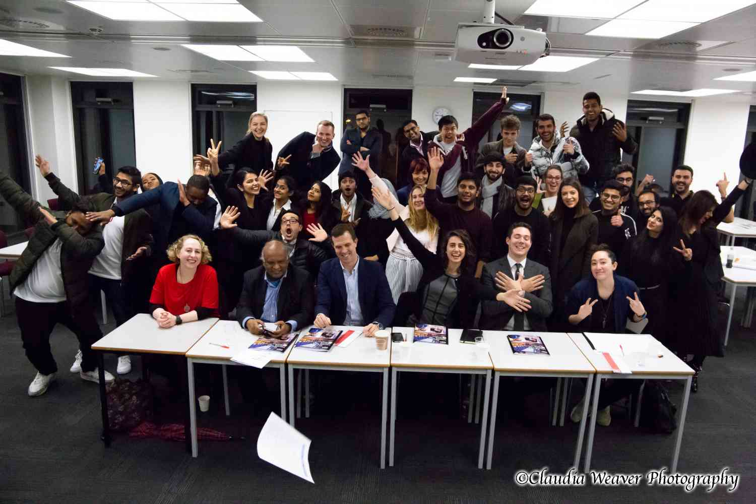 Kingston Business School Dragons' Den December 2018 - Start-up teams and judges at Kingston Business School Dragons' Den December 2018. Photo by Claudia Weaver