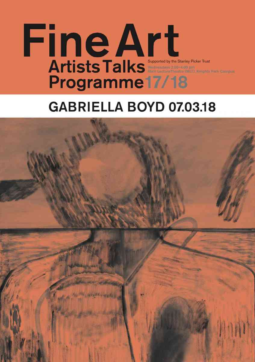 Fine Art Artists Talks programme poster - Gabriella Boyd
