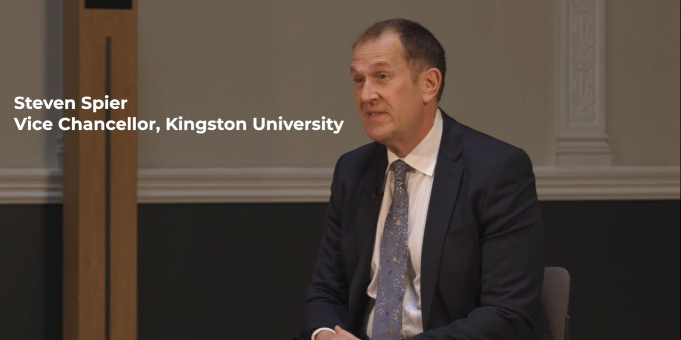 Vice-Chancellor Professor Steven Spier told the panel about Kingston University\'s KU Cares scheme.