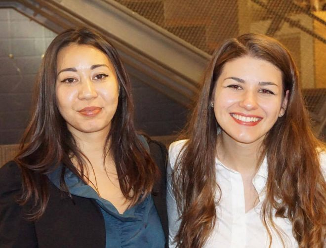 final-year drama and human rights students Yasemin Gava and Clarissa Kim are both also performers in their award-winning play