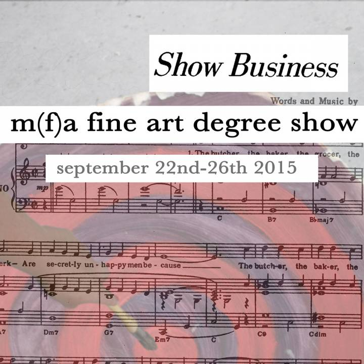 Fine Art MFA, Art & Space MA, Fine Art with PgCert MA show 2015