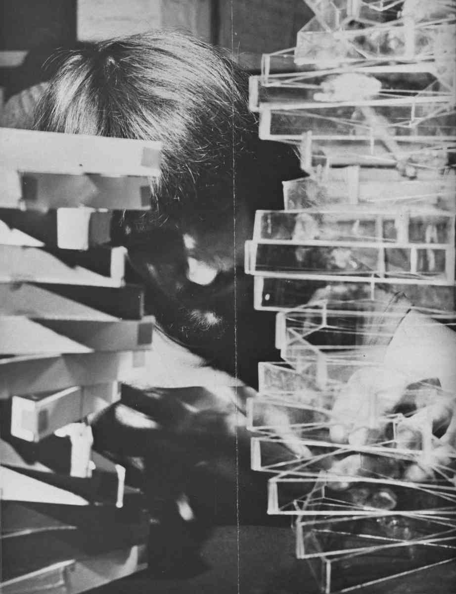 3D constructions in glass workshop - 1973, Chris Thomas