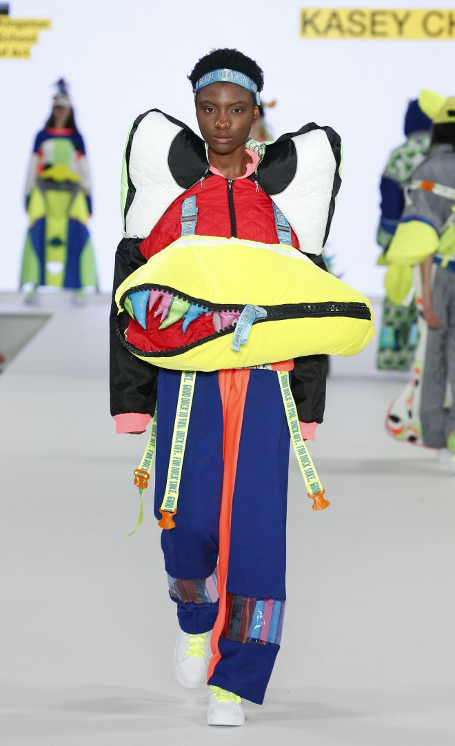 The darker themes in Disney\'s Donald Duck cartoon run through designer Kasey Chiu\'s collection, which features removeable beaks and eyes that become sleeping bags and duvets.