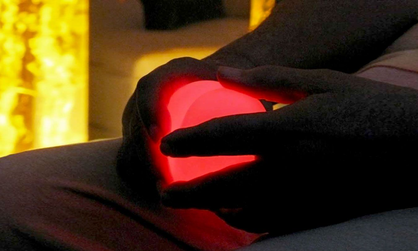 Glowing heart – example of an illuminated,  programmable, tactile item to be held by user