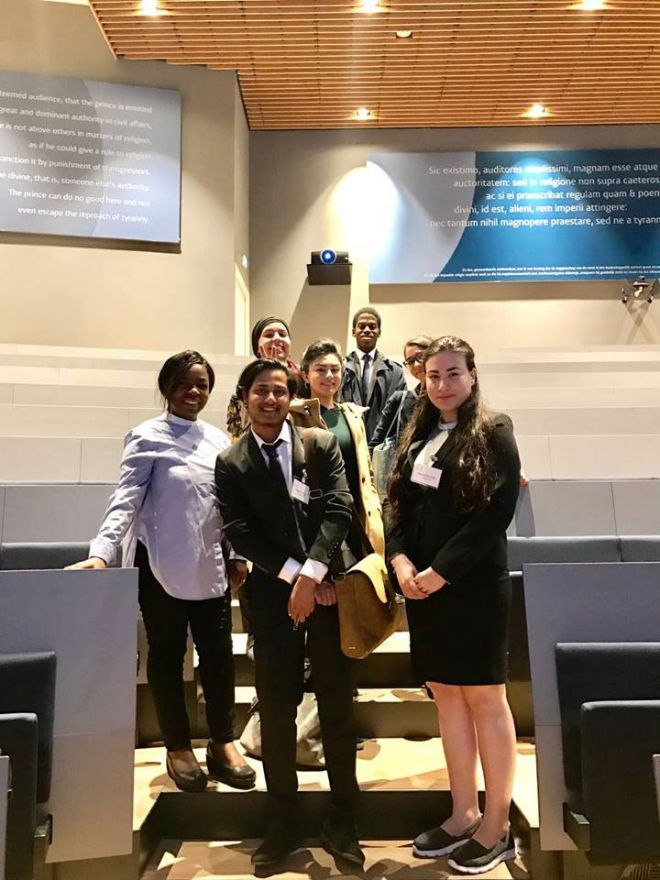 International Criminal Court Moot team in The Hague