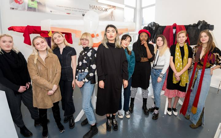 Creative collaboration from Kingston School of Art fashion students and Royal School of Needlework gives modern twist to traditional Korean Hanbok