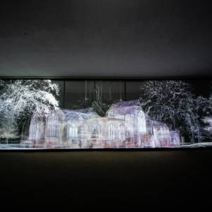 Kingston University students support artist Mat Collishaw to create Echolocation outdoor video installation showcasing borough's history