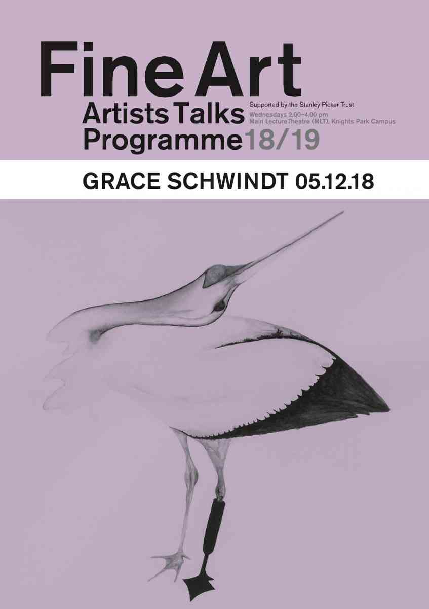 Fine Art Artists Talks programme poster - Grace Schwindt