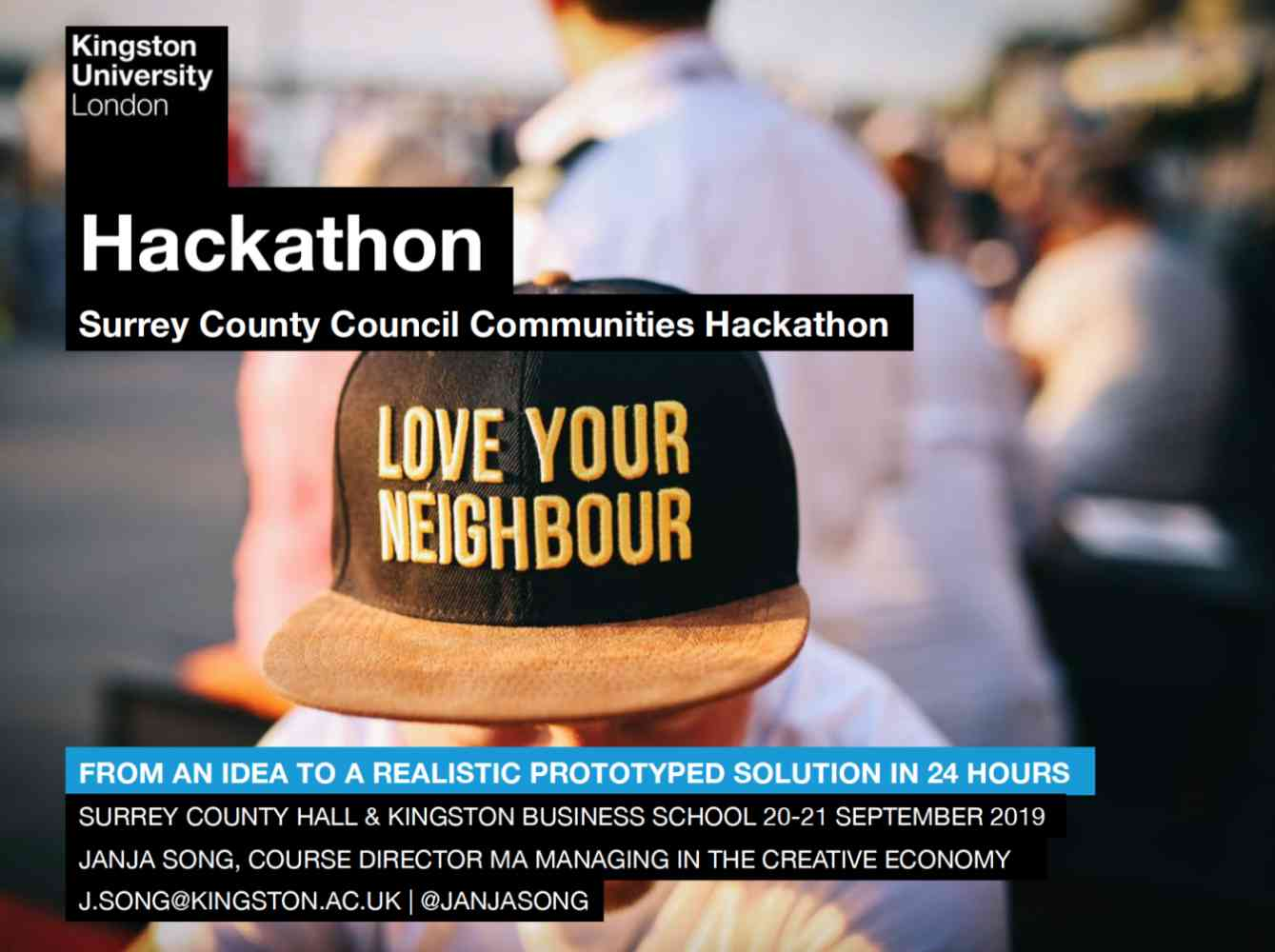 MA Creative Economy Hackathon, Welcome Week 2019 - MA Creative Economy x Surrey County Council Hackathon https://macekingstonuniversity.com/2019/10/16/photos-from-the-ma-creative-economy-hackathon-welcome-week-2019/