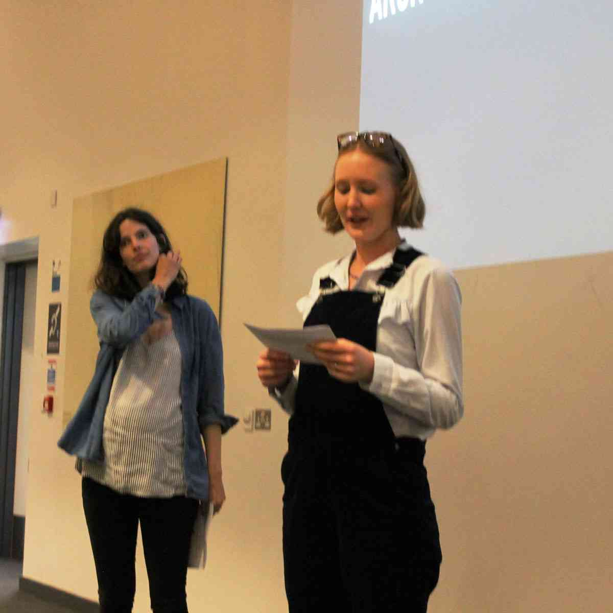 Amy Greenhough and Charlotte Stroud introduce the conference