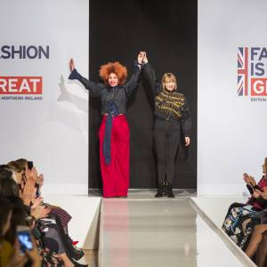From AltaRoma to London Fashion Week – diversity celebrated on the catwalk as Kingston School of  Art fashion graduate Sadie Clayton's latest collection takes the style capitals by storm