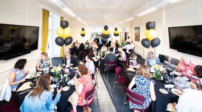 Kingston Business School held a 'Thank You\' dinner for alumni who have volunteers